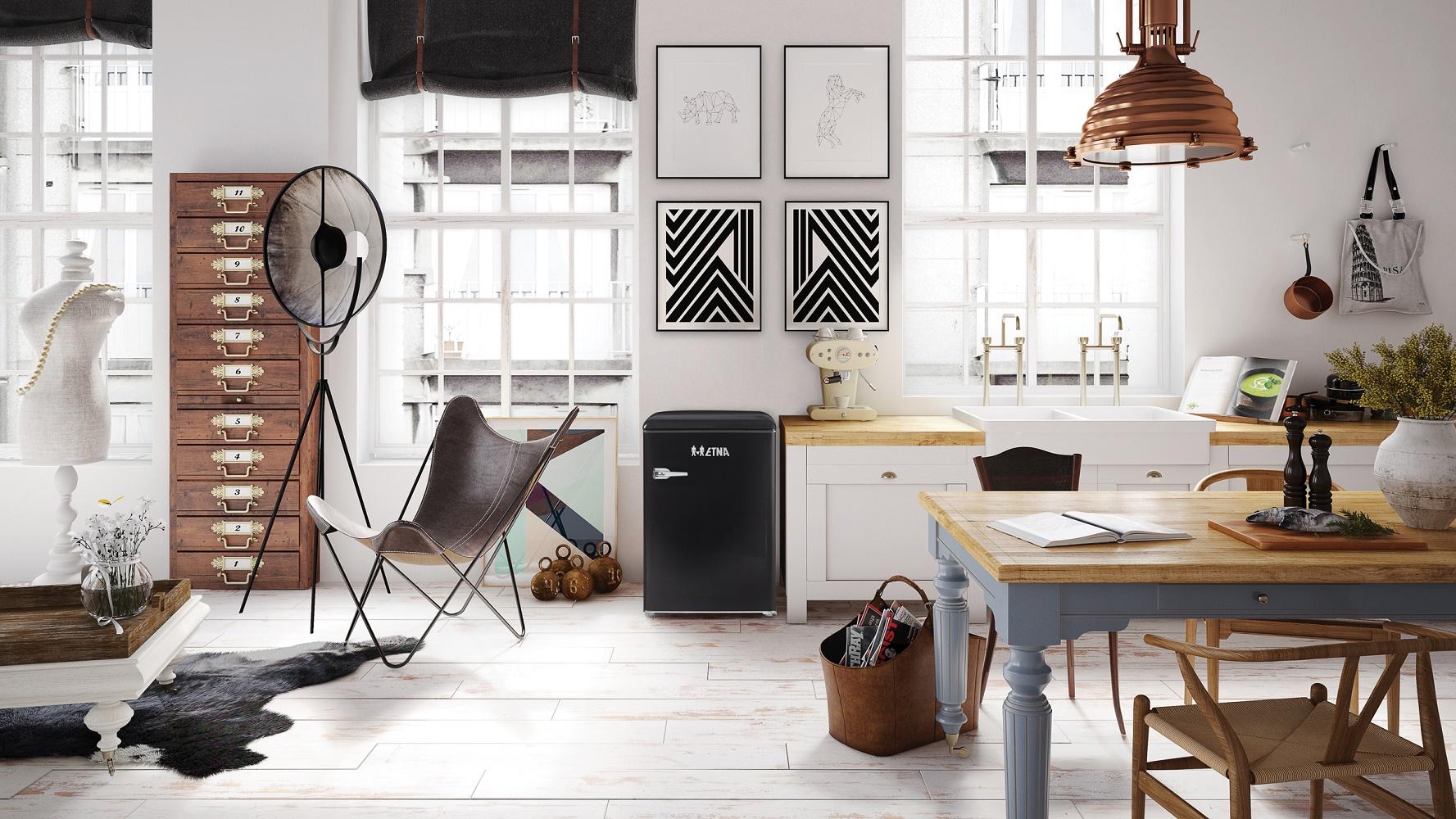 Retro Design Keuken : Happy home deze etna retro koellijn geeft de keuken kleur