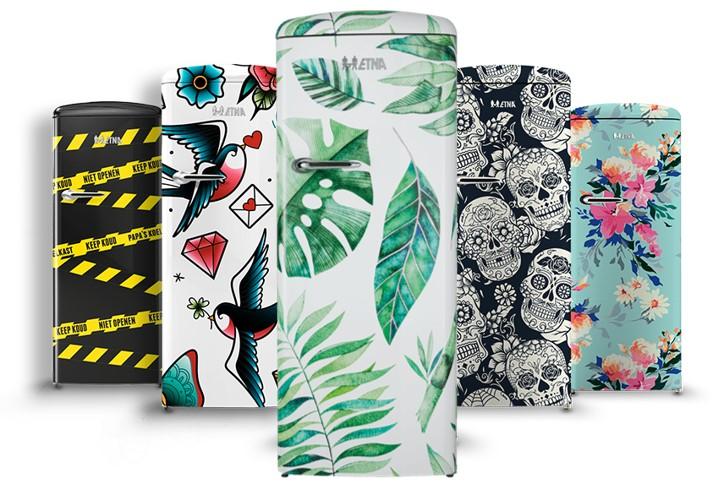 Gezocht: fashionable design voor ETNA Retro koelkast - PR Matters